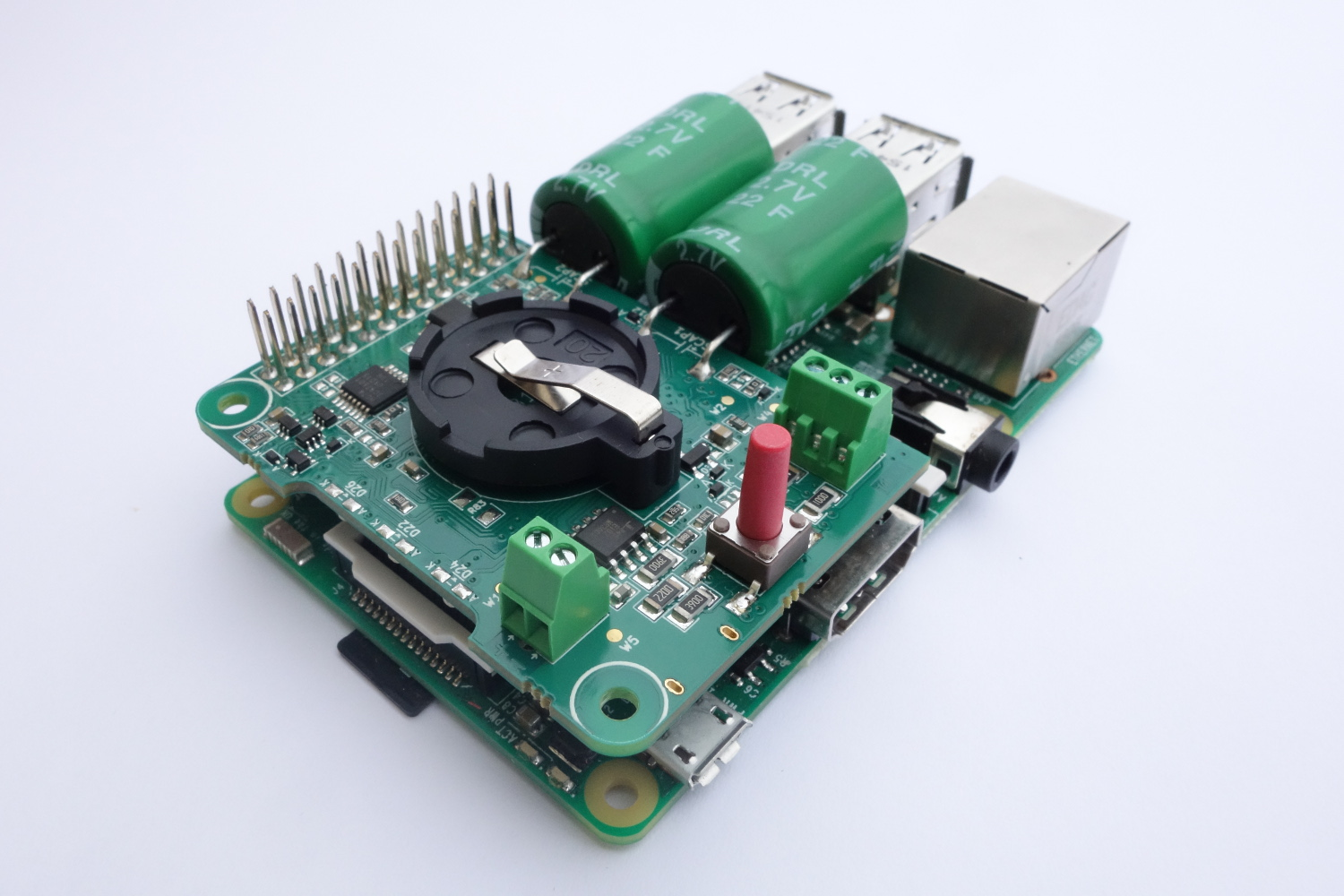 UPS Shield for Raspberry Pi | Arduino based PLC Controller for